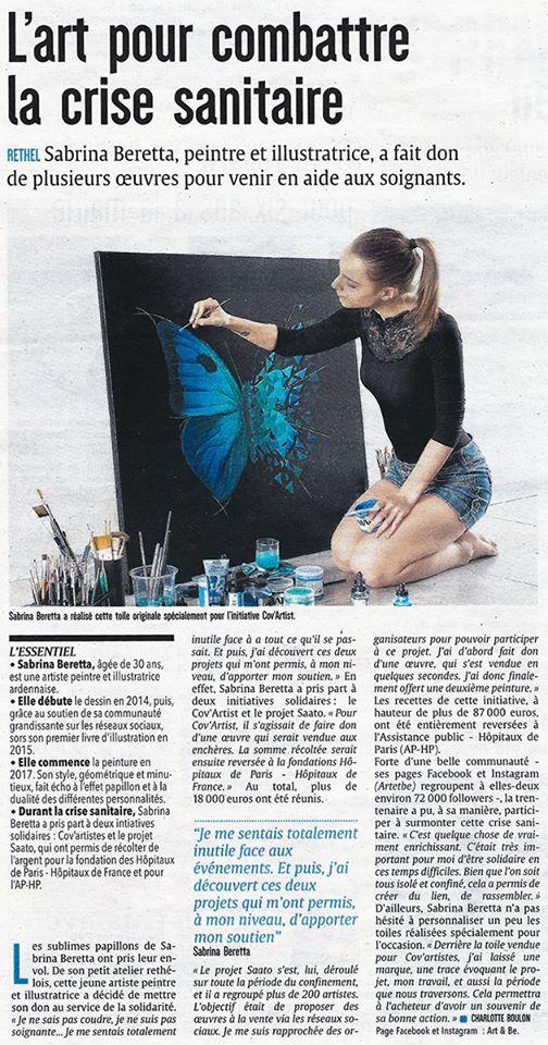 article de presse l'ardennais et l'union - sabrina beretta