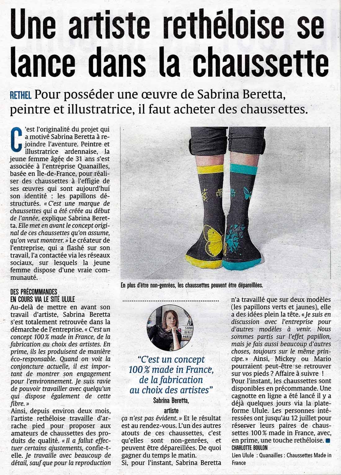 article ardennais union - sabrina beretta - chaussettes quanailles