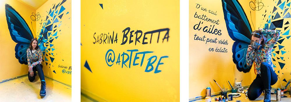 sabrina beretta présente un effet papillon au festival colors paris