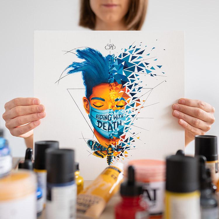 Jean-Michel Basquiat et son effet papillon sphinx tête de mort