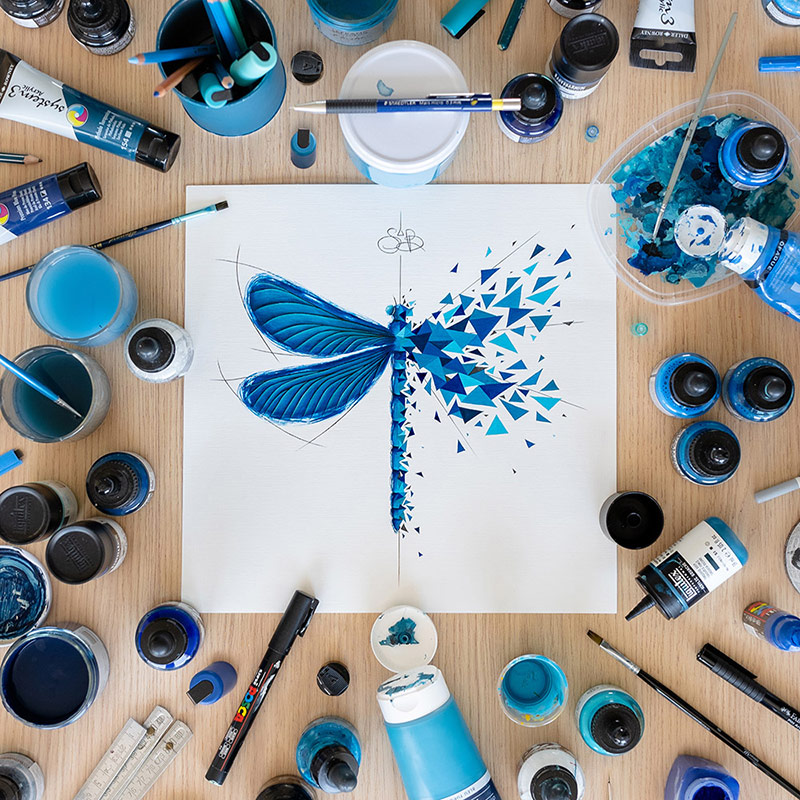 Dragonfly effect ou effet libellule de Sabrina Beretta