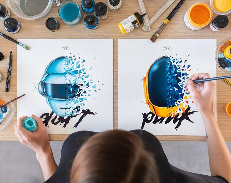 Hommage de Sabrina Beretta à l'occasion de la séparation des Daft Punk : épilogue