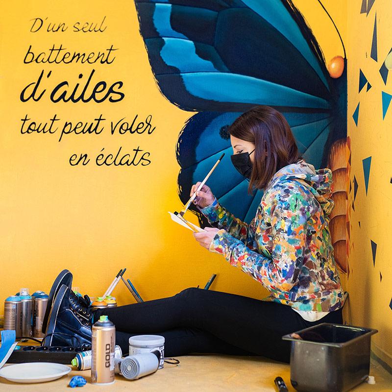 Sabrina Beretta et son effet papillon au colors festival paris