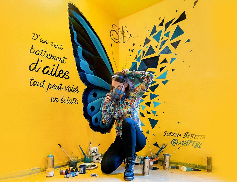 Combo CK a invité Sabrina Beretta et son Effet Papillon au Colors festival, évenement Street Art de Paris