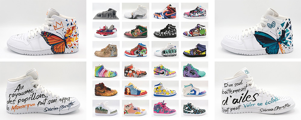 exposition sneakers nike air jordan à la galerie sakura